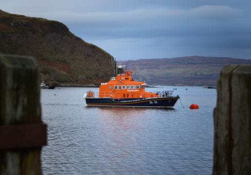 Free Stock Photo of Portree Lifeboat, Isle of Skye