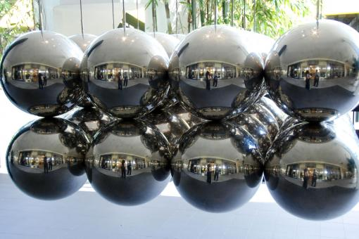 Free Stock Photo of Metal Balls, Florida, January 2007