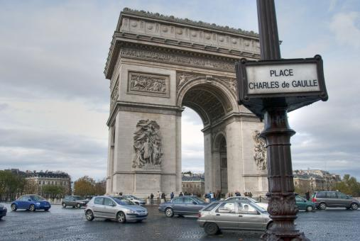 Free Stock Photo of Arc de Triomphe - Paris in Winter