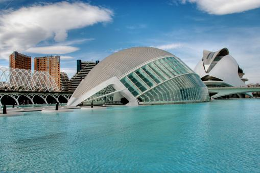 Free Stock Photo of Ciudad de las Artes y las Ciencias