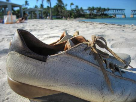 Free Stock Photo of Shoes on Bahia Honda State Park
