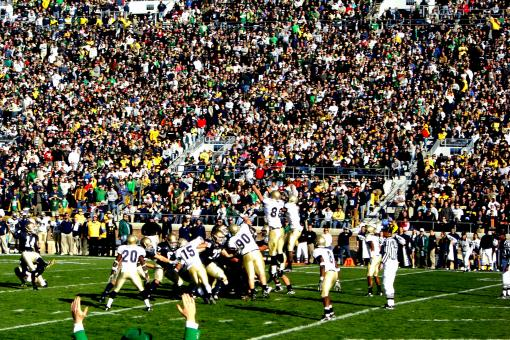 Free Stock Photo of ND Football Game