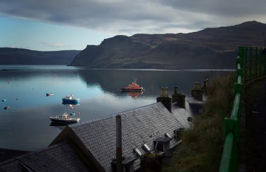 Free Stock Photo of Portree Harbour Isle of Skye - Early Mor