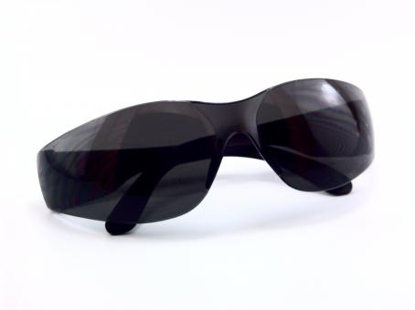 Free Stock Photo of Black Sunglasses on White