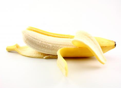 Free Stock Photo of Peeled banana