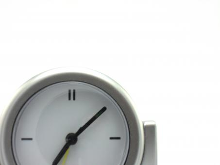 Free Stock Photo of White Quartz Clock