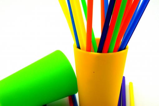 Free Stock Photo of Colorful straws