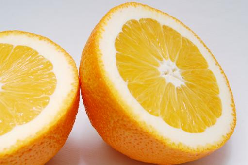 Free Stock Photo of Sliced Orange