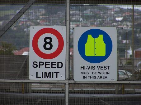 Free Stock Photo of Hi Visibility = Safety in Signs in Duned