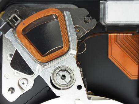 Free Stock Photo of Hard disk drive closeup