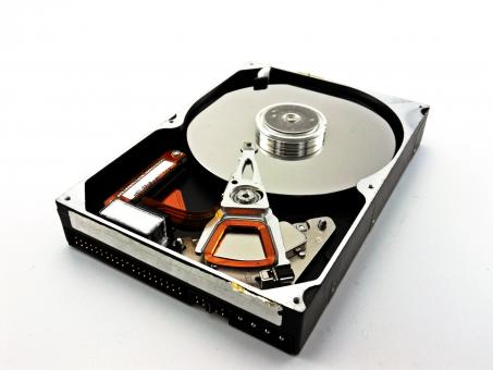 Free Stock Photo of Hard disk drive - Open Casing
