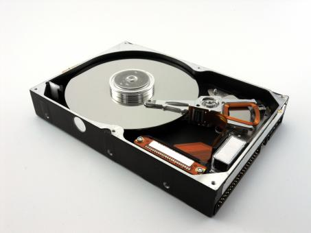 Free Stock Photo of Hard disk drive on white