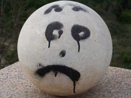 Free Stock Photo of Stone cold and unhappy