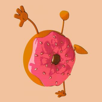 Free Stock Photo of Donut