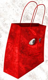 Free Stock Photo of Sad shopping bag