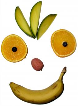 Free Stock Photo of Fruit face smiling