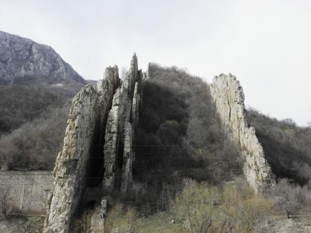 Free Stock Photo of Ritlite-rock formation in the Iskar Gorg