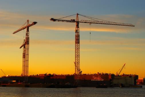 Free Stock Photo of Cranes