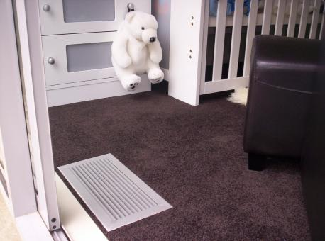 Free Stock Photo of Air Vent in Babys Room