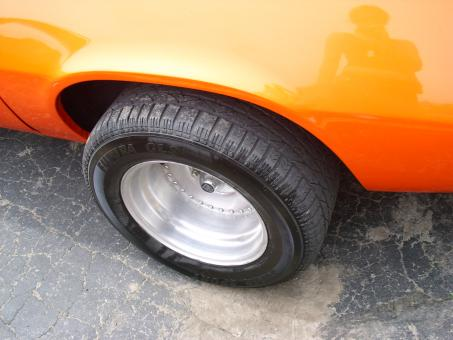 Free Stock Photo of Orange Maro Wheels