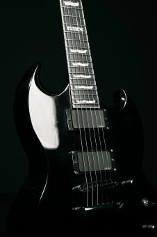 Free Stock Photo of Black Guitar