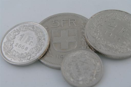 Free Stock Photo of Coins CHF switzerland