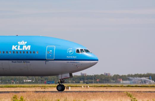 Free Stock Photo of KLM aircraft