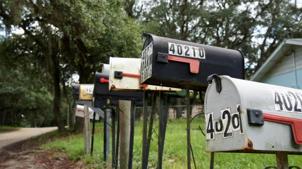 Free Stock Photo of Rural Mailboxes