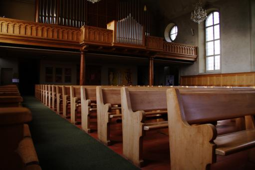 Free Stock Photo of Church Benches