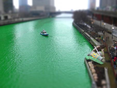 Free Stock Photo of Chicago Tilt Shift