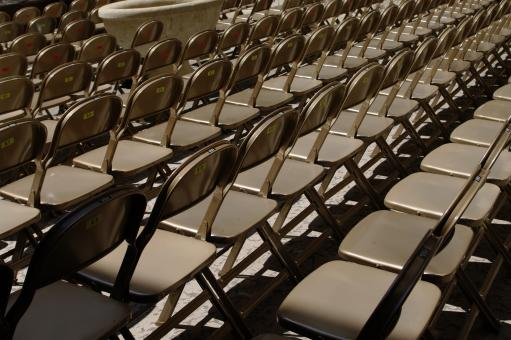 Free Stock Photo of Range of chairs
