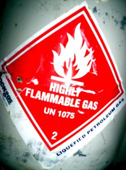 Free Stock Photo of Highly Flammable