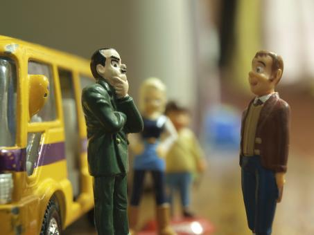 Free Stock Photo of Bus Stop toys