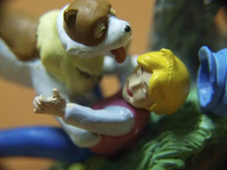 Free Stock Photo of Boy and dog, macro toys