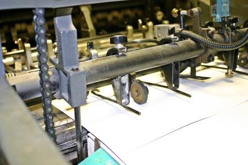 Free Stock Photo of Offset printing machine