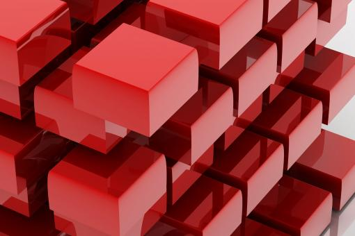 Free Stock Photo of Red cubes