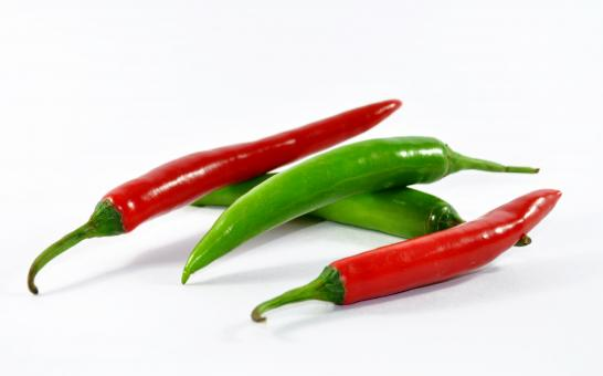 Free Stock Photo of Red and Green Chilli