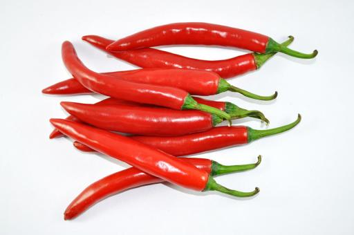 Free Stock Photo of Red Chillies