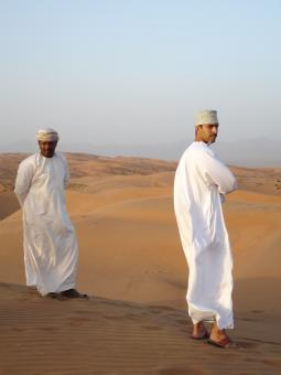 Free Stock Photo of Omani desert people