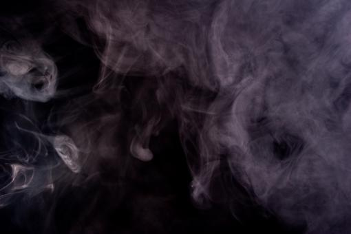 Free Stock Photo of Abstract Purple Smoke on Black