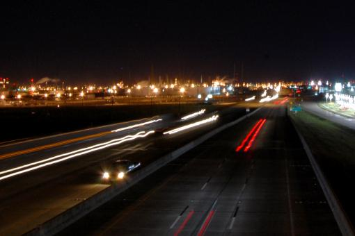 Free Stock Photo of Highway at night