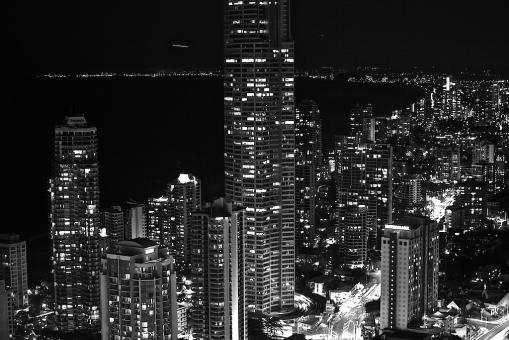 Free Stock Photo of Surfers Paradise at night