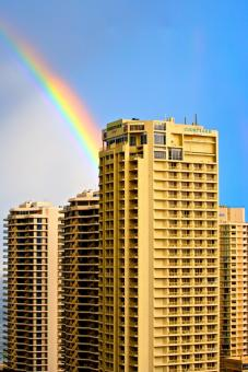 Free Stock Photo of Surfers Paradise Rainbow