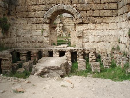 Free Stock Photo of Ancient Roman bath in Perge