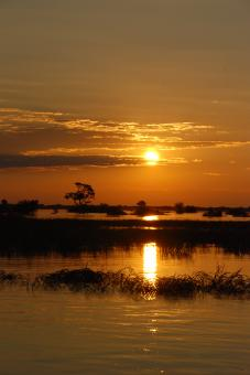 Free Stock Photo of Sunset over the Chobe river