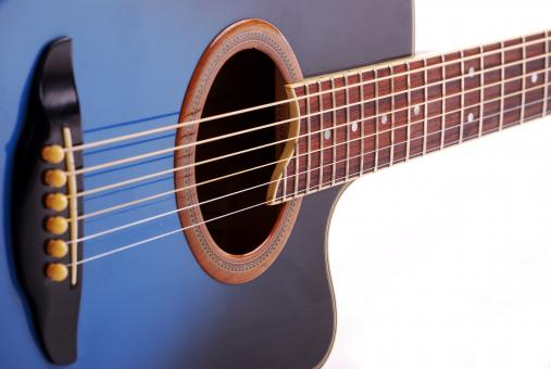 Free Stock Photo of Blue Guitar