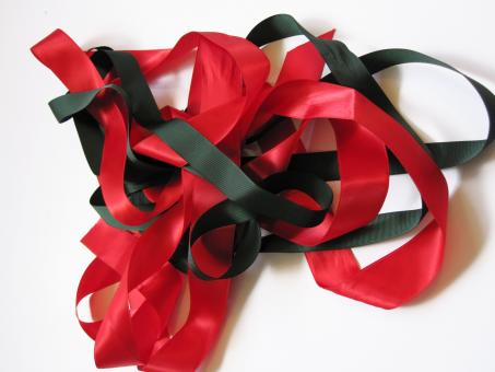 Free Stock Photo of Green and Red Ribbon