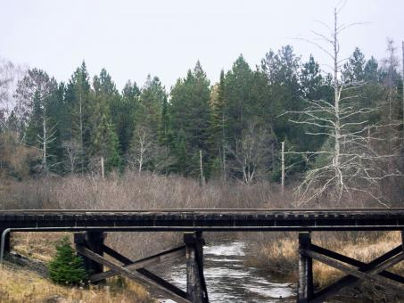 Free Stock Photo of Railroad Bridge