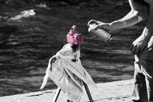 Free Stock Photo of Painting of a friend