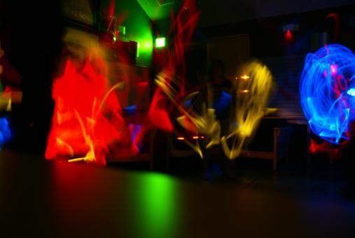 Free Stock Photo of Glowstick Dance